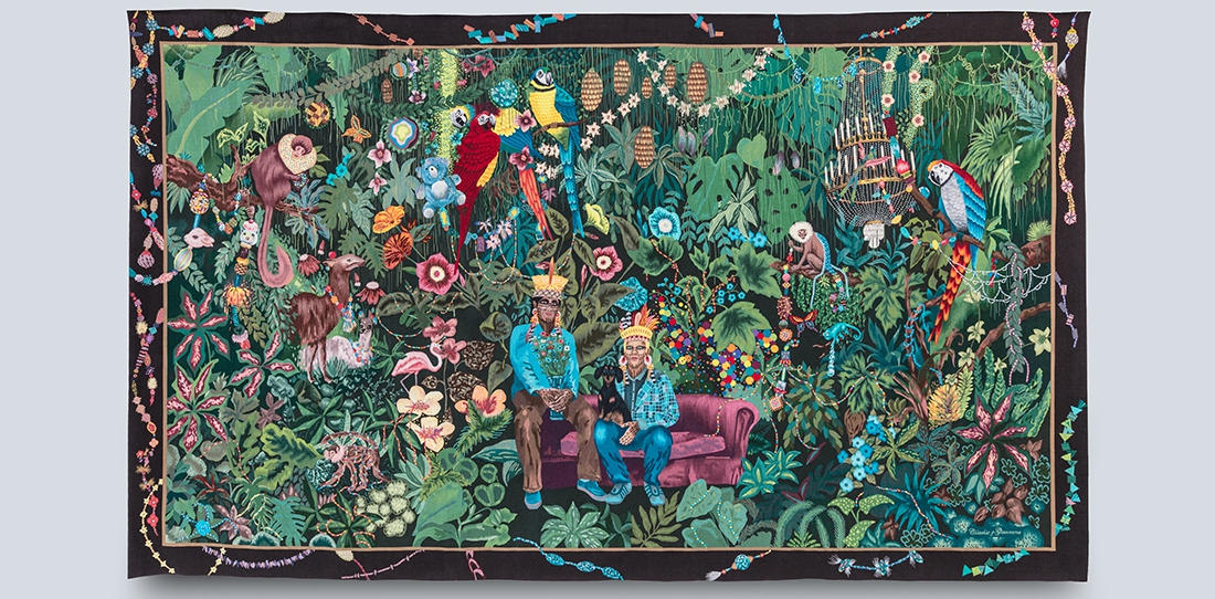La famille dans la joyeuse verdure, Chiachio & Giannone, woven by A2 workshop, Aubusson