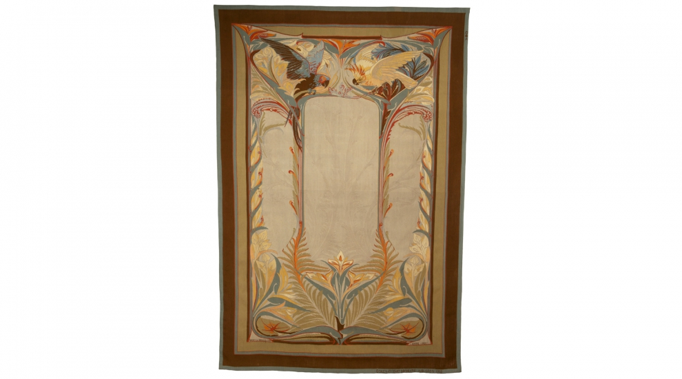 Les Perroquets, d'après Henry de Waroquier, tissage atelier de l'ENAD Aubusson, 1901-1902