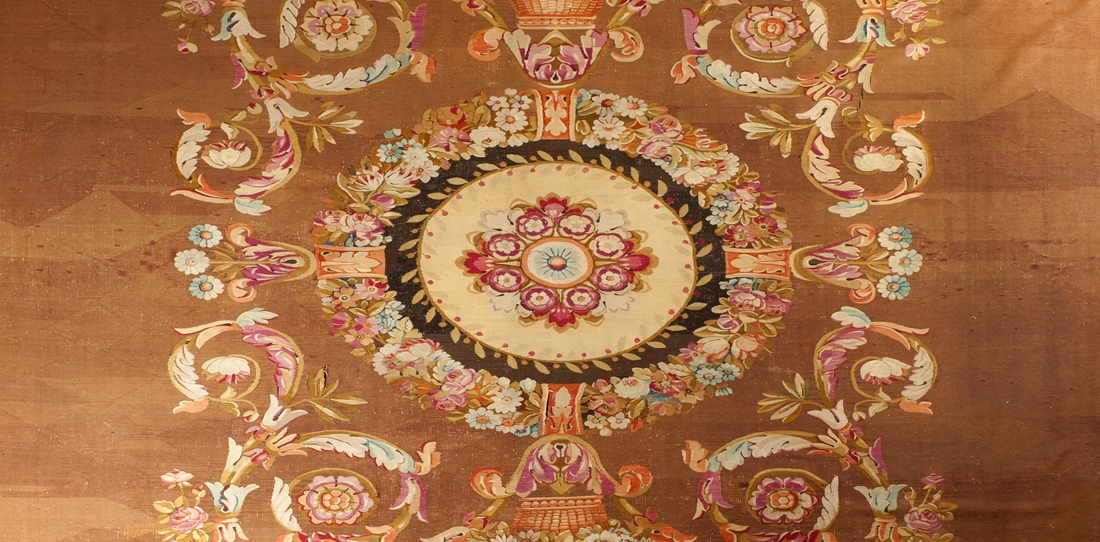 Rug (detail), Sallandrouze manufactory, second half of the 19th century (Napoléon III)