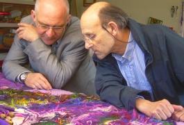 Daniel Riberzani et Pascal Legoueix (Atelier de tapisserie, Aubusson)